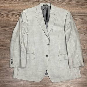 Calvin Klein Grey Plaid Sport Coat 44S Short